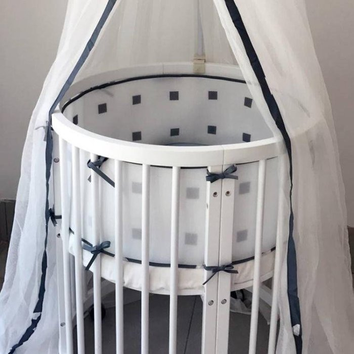 嬰兒床圍防撞兒童床上用品夏透氣床幃可拆洗 LL1193