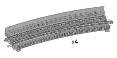 [玩具共和國] TOMIX 1876 高架橋付PCレールHC541-15-PC(F)(4本セット)