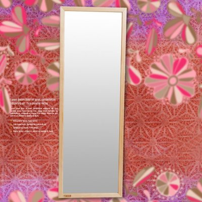 書房 臥室 【家具先生】和風長形壁鏡松木立鏡(鏡子/收納/桌鏡/茶几/櫃/置物W-K-MR522