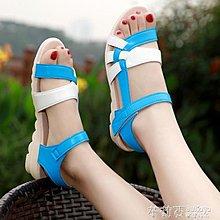 可開發票 涼鞋女仙女風夏季鞋子新款韓版百搭簡約學生網紅平底鞋ins潮【花樣年華】