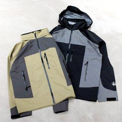 【車庫服飾】STUSSY 20HO TAPED SEAM RAIN SHELL 拚布撞色風衣外套