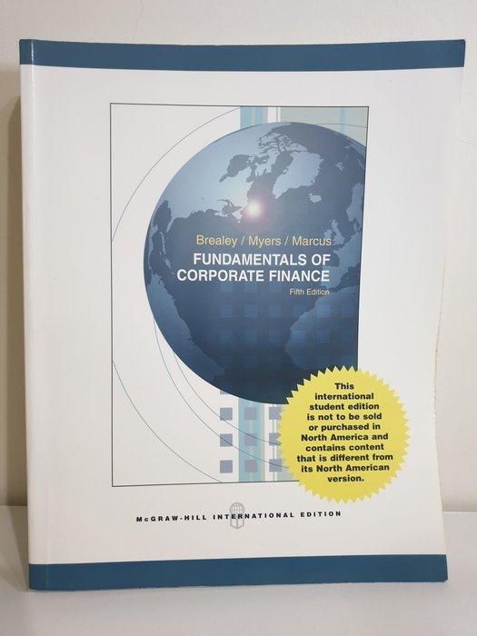 Fundamentals of corporate finance 5th edition