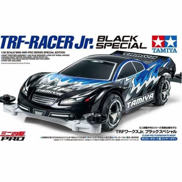 TAMIYA 田宮 1/32 #95550 迷你四驅車 軌道車 TRF-Racer Jr. 黑色特別版 軟透明殼 MS