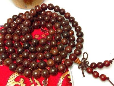 【京品藝術】〈8mm108顆血檀手珠〉贈錦袋 非洲小葉紫檀佛珠 紅木製唸珠 念珠//另有黑檀 綠檀 紅檀 手轉球