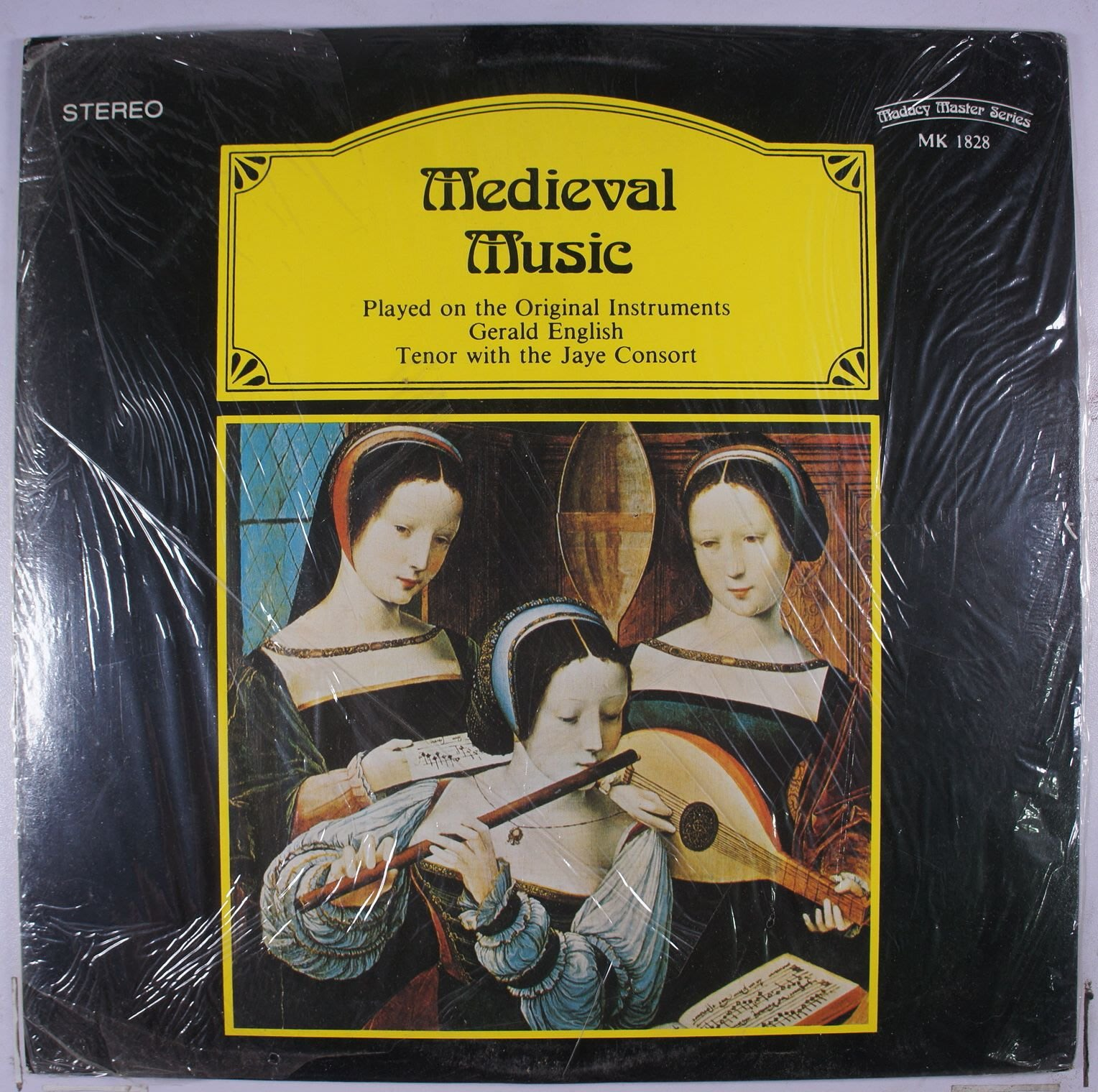 《全新加版黑膠》Gerald English With The Jaye Consort ‎– Medieval Mus