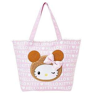 *凱西小舖*日本進口三麗歐正版凱蒂貓KITTY餅乾熊系列肩背大方包