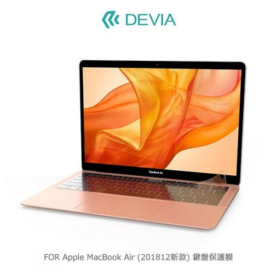 *PHONE寶*DEVIA Apple MacBook Air (201812新款) 鍵盤保護膜
