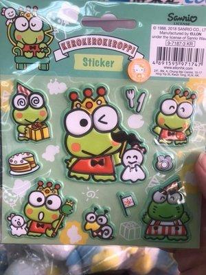 Sanrio 大眼蛙 皮皮蛙 Keroppi 香港限定泡綿貼紙