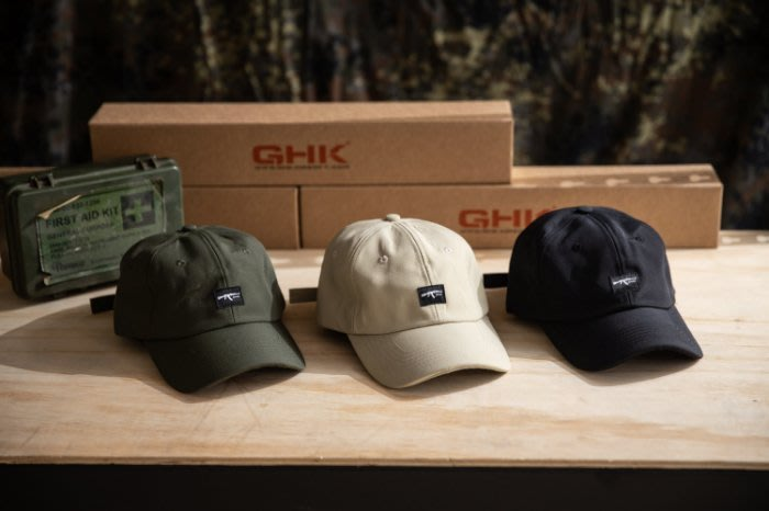 "美國東村【GHK】"" Abstract Collection "" Logo Cap 黑色 軍綠色 沙色"