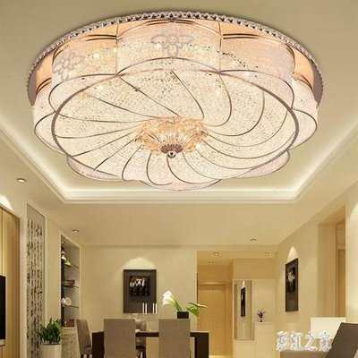 吸頂燈220v大氣歐式客廳燈溫馨圓形led吸頂燈家用房間燈具簡約主臥室燈現代LB15960