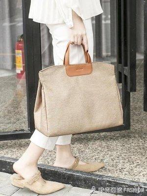 ZIHOPE 韓版公文包單肩斜挎書袋文件袋氣質時尚A4資料袋手提女文件包ZI812