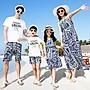 【可樂生活】海邊度假親子裝夏裝新款全家裝...