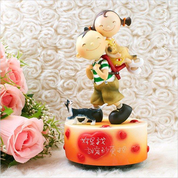 Sweet Garden, 送女友禮物 超可愛 情侶貓咪 WSA戀愛系列 你是我甜蜜的負擔旋轉音樂盒(免運)