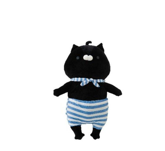 天使熊雜貨小舖~日本okaeri sonoda kin水手貓咪涼感抱枕 現貨:黑(黑部)/白(園田)2款  全新現貨