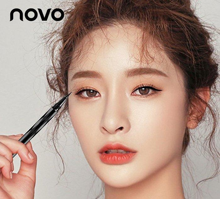 彩妝NOVO5201持久液體眼線筆棕色 大眼定妝防水不暈染眼線液筆