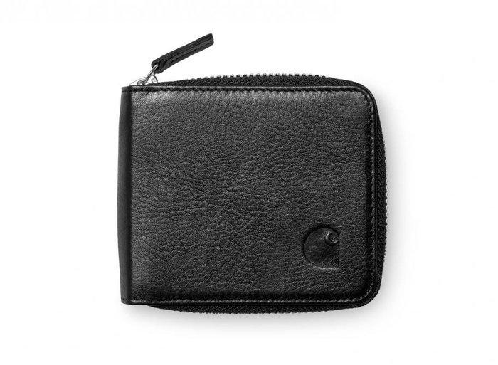 【美國鞋校】現貨 CARHARTT ZIP WALLET SMALL LEATHER I025747 黑/卡其 小皮夾