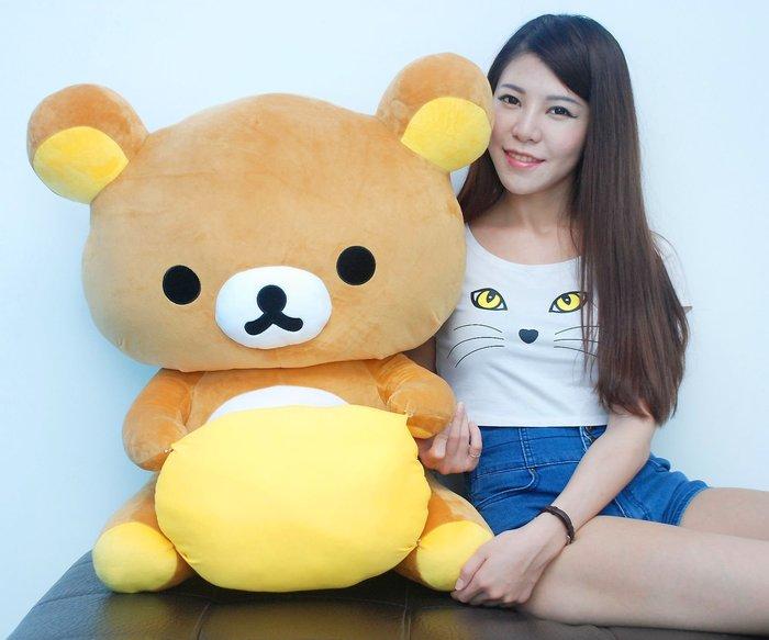 超大拉拉熊娃娃~高70CM~正版授權~巨無霸懶懶熊玩偶~熱銷玩偶