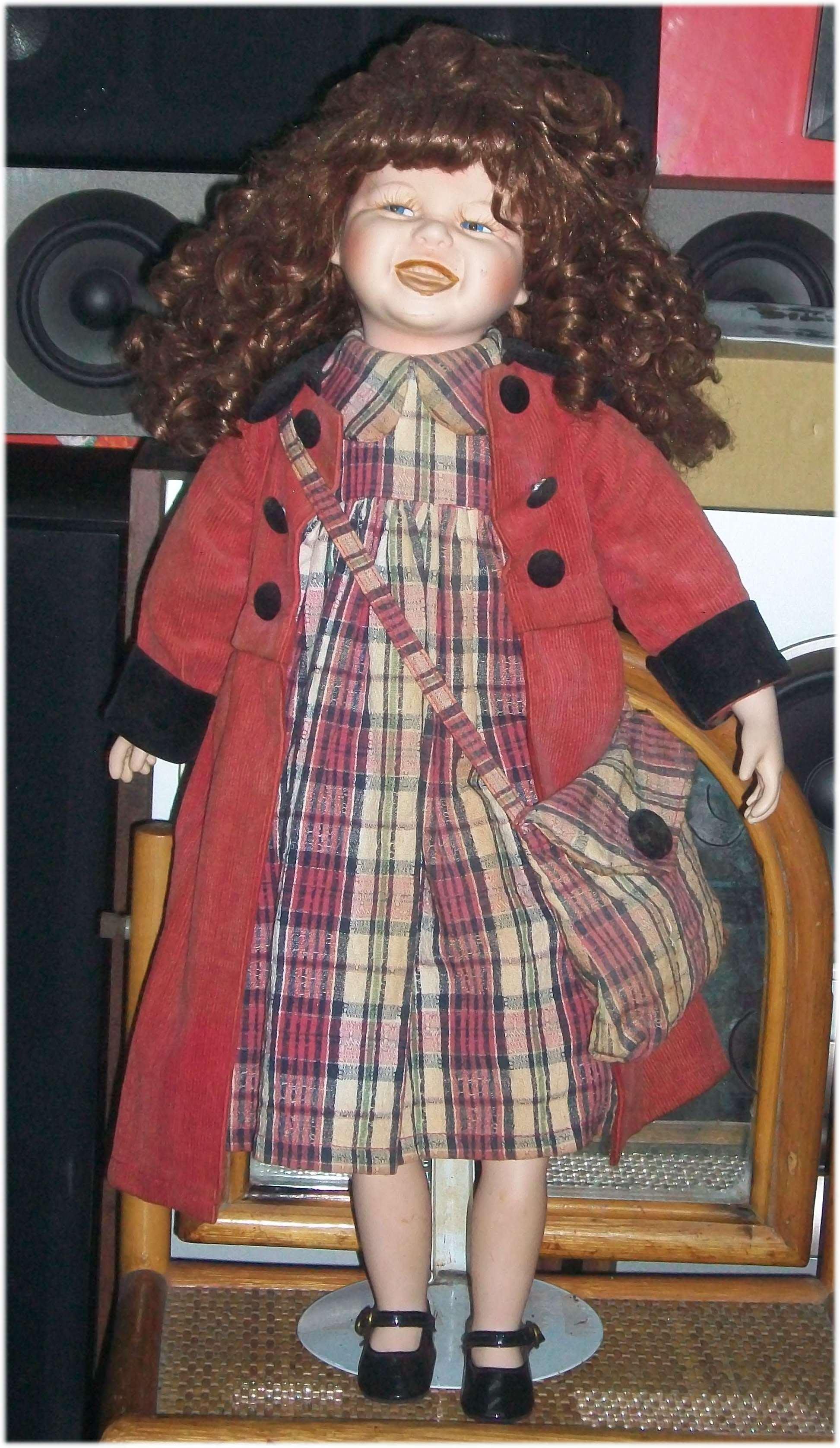 早期陶瓷娃娃 洋娃娃含支撐架