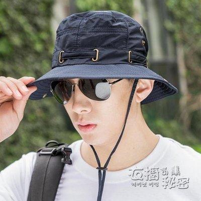 釣魚帽男夏天太陽帽戶外防曬遮陽帽韓版潮漁夫帽登山帽子男士盆帽 衣櫥秘密