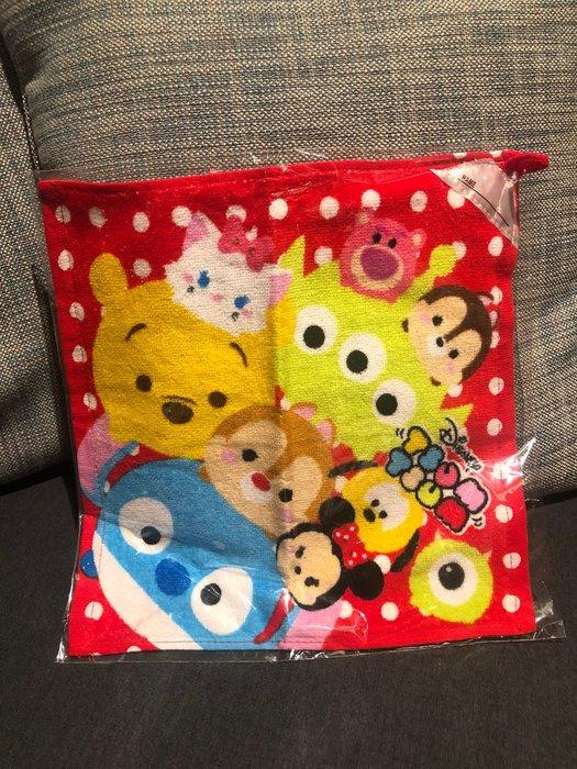 朵拉媽咪 ❤️ 【現貨】日本帶回 迪士尼 毛巾 方巾 洗澡巾 DISNEY TSUM TSUM