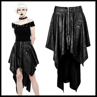 *MINI PUNK LOLO*黑暗龐克視覺-決戰異世界弒血之戰皮革拉練口袋不規折個性造型裙(WQ-351)PUNK