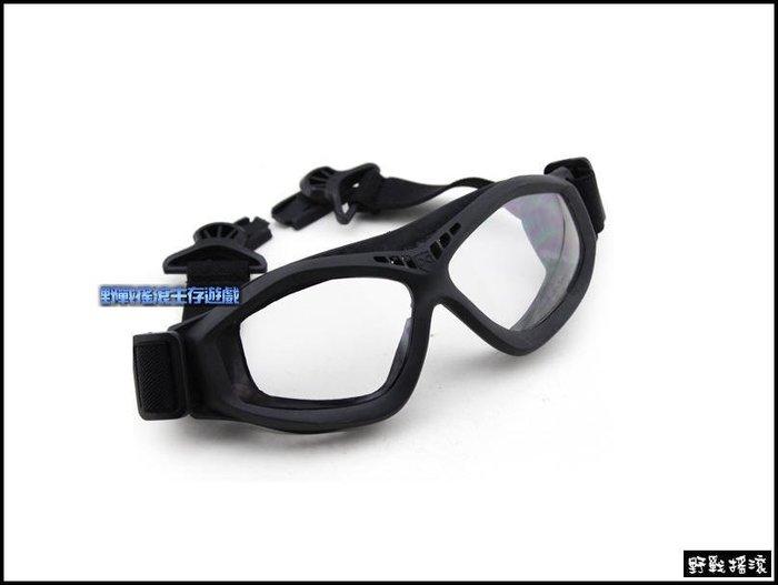 【野戰搖滾-生存遊戲】FAST 戰術頭盔專用護目鏡【黑色、沙色】護目鏡FAST盔戰術頭盔眼鏡運動風鏡