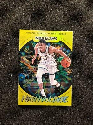 Giannis Antetokounmpo 2019-20 Panini NBA Hoops High Voltage Bucks #11
