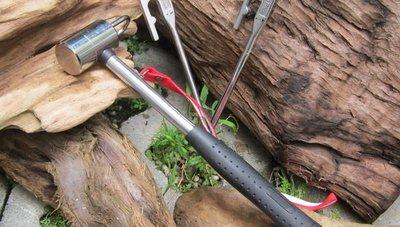 【露營趣】Outdoorbase Power 鍛造鋼營槌 營錘 帳篷營釘用錘子 25957 非snow peak coleman logos