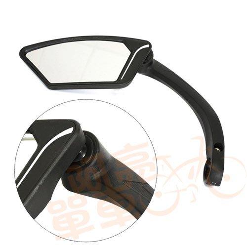 *阿亮單車*歐式時尚型自行車後視鏡,左銀鏡《B26-046》