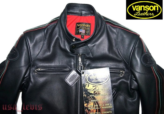 M號現貨【美國Levi s專賣】全新 USA製 Vanson CLASSIC 立領 騎士皮衣 夾克 優惠700美金