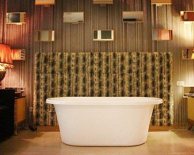 秋雲雅居~G1系列(140x75x52cm)獨立浴缸/古典浴缸/復古浴缸/泡澡浴缸/壓克力浴缸 放置即可泡澡免安裝!!