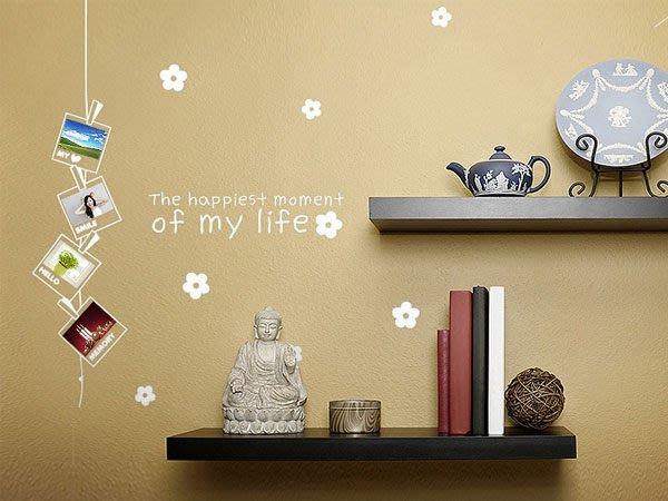 壁貼工場-可超取 一代壁貼 壁貼 牆貼 貼紙  相框小花  組合貼 W1201