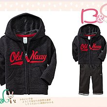 【B& G童裝】正品美國進口OLD NAVY 字樣鐵灰色內軟刷毛長袖連帽外套6-12mos