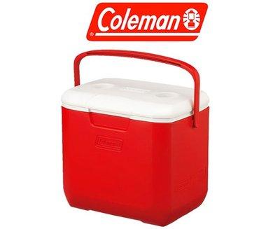 美國Coleman│CM-27862 EXCURSION冰箱28L│紅色│保冷箱 行動冰箱│大營家露營登山休閒