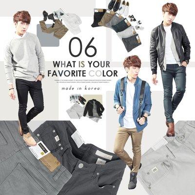 。SW。【K91331】正韓 UPSET 韓國製 雅痞質感 修身 單寧彈性布 6色 素面 窄版牛仔褲 sale690