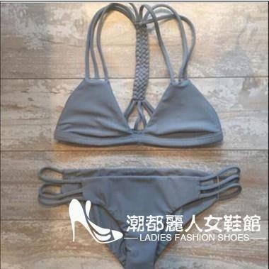 亞馬遜熱賣泳衣爆款歐美性感泳衣手工編織多繩女比基尼溫泉泳衣「潮都儷人女鞋馆」