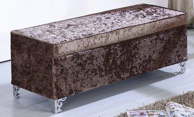 【DH】商品貨號商品名稱《金鑽》105CM收納水鑽長方椅。備有紫色/黑鱷色/金皮色。另有38cm收納方椅~另計。。