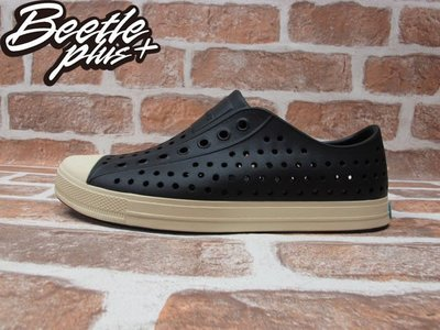BEETLE NATIVE JEFFERSON JIFFY BLACK 黑白 奶油頭 洞洞鞋 GLM01-001 M6