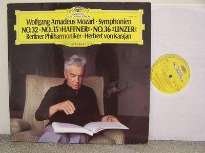 【DG LP名盤】338.莫札特:第32,35,36號交響曲,卡拉揚/柏林愛樂