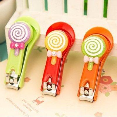 可愛棒棒糖指甲剪 蝴蝶結不銹鋼指甲刀-艾發現