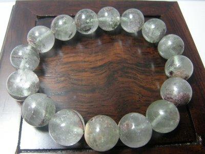 [集雅舍][天然水晶手鍊02] 幽靈水晶 8mm     念珠   手珠   正能量