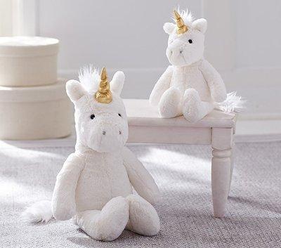 預購 美國嬰幼兒精品 Pottery Barn Baby 可愛獨角獸娃娃 Unicorn Plush 小款 生日禮