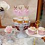 Wedding Cake❤Candy Bar主題婚禮迎賓佈置 歐式蕾絲點心盤 兩層三層蛋糕架13套