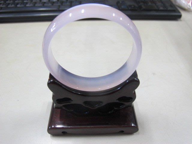 二手舖 NO.3654 天然玉石 紫玉髓手鐲 玉環 玉鐲 首飾飾品