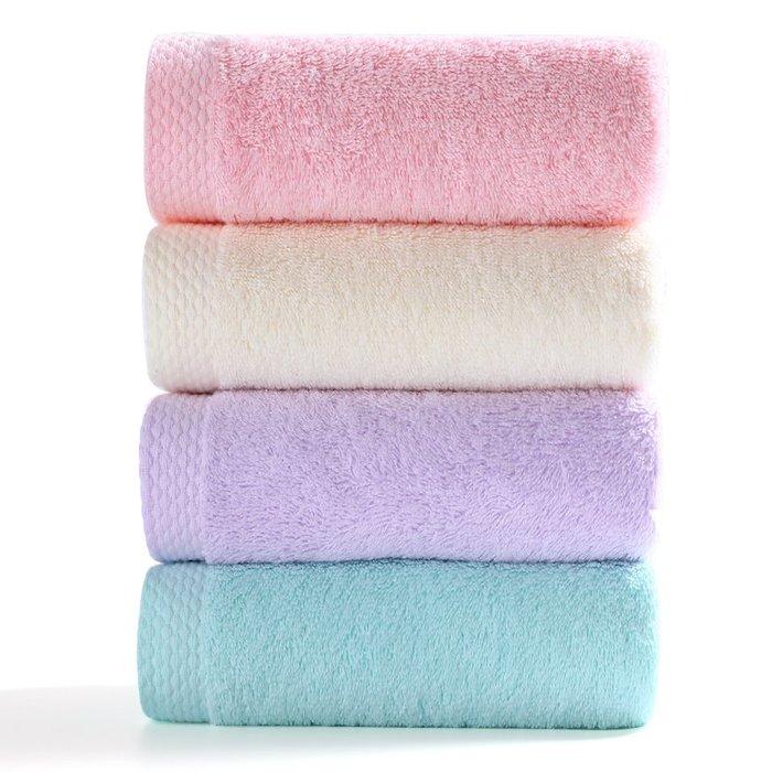 【下標有優惠】毛巾4條 純棉洗臉洗澡家用男女柔軟吸水不掉毛成人毛巾批發