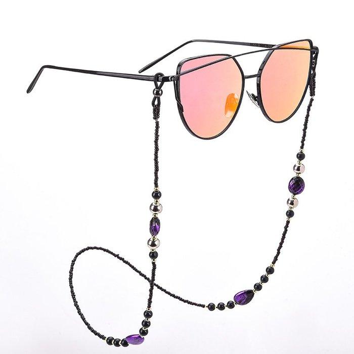 奇奇店-熱賣款 眼鏡鏈條掛脖復古洛麗塔時尚網紅女太陽鏡墨鏡眼睛帶防滑鏈子掛繩