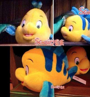 《東京家族》日本正版 東京迪士尼 樂園 小比目魚玩偶 聖誕節 抱枕 現貨