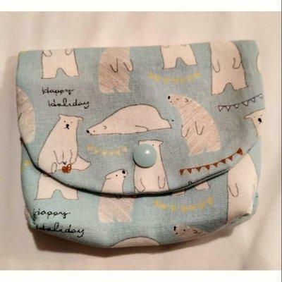 可愛北極熊錢包、面紙包 15~25~2公分