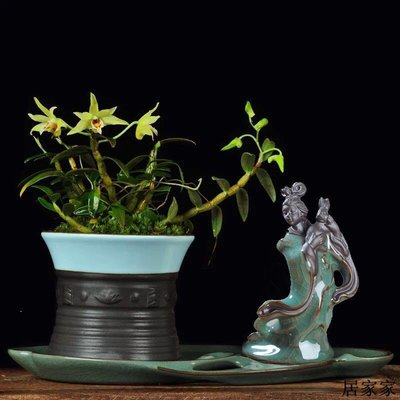 花盆 花器 陶瓷擺飾 陶瓷花寵花盆擺件古典禪意迷你小沙彌微景觀桌面盆栽創意搭配裝飾