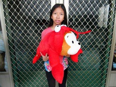 鳳山娃娃館~全新大款猴子娃娃~龍蝦猴娃娃 龍蝦猴玩偶~長58公分猴子玩偶~蝦子娃娃~生日/情人禮物~全省配送